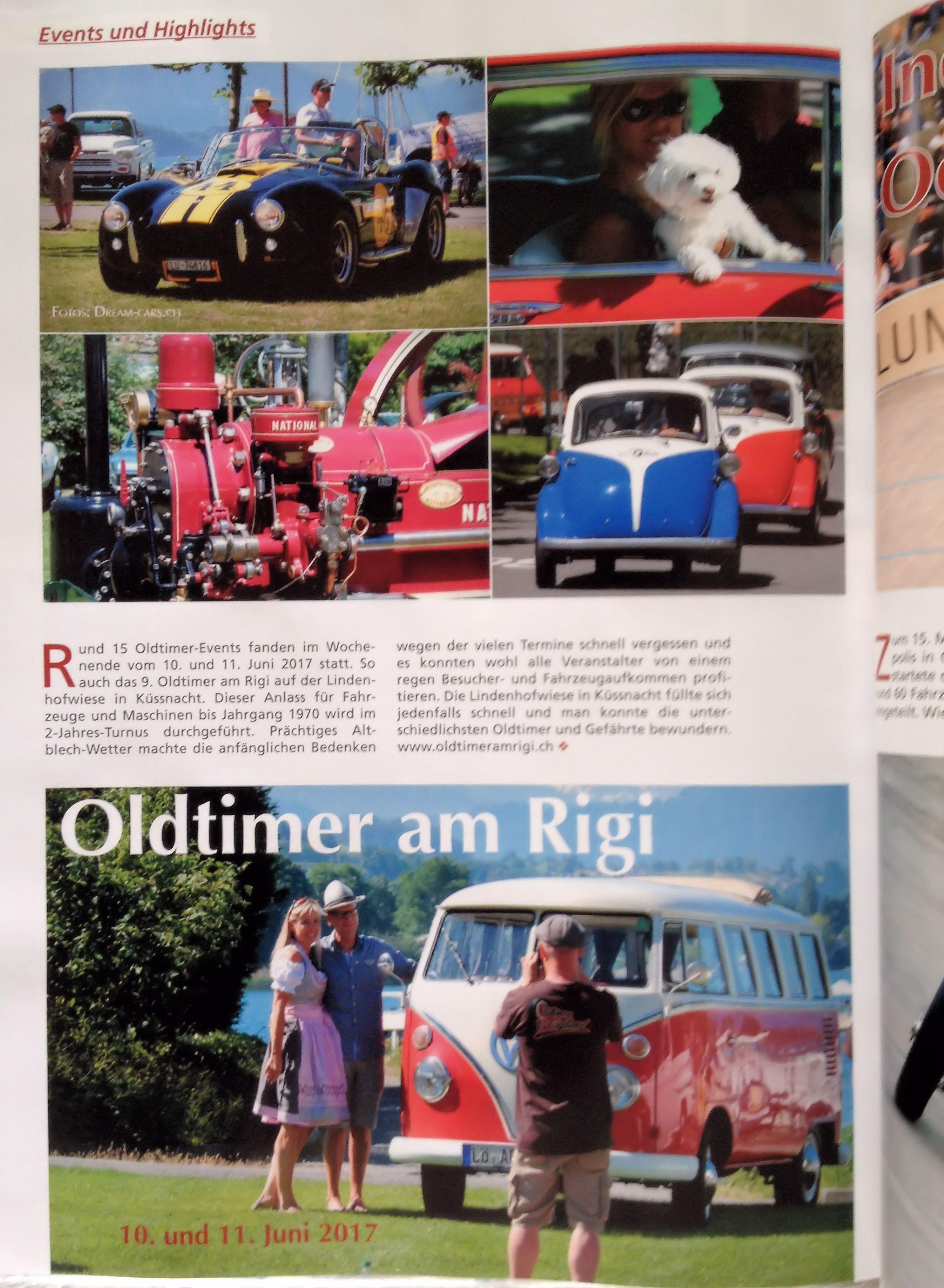 Oldtimer am Rigi 2017 in der Autozeit